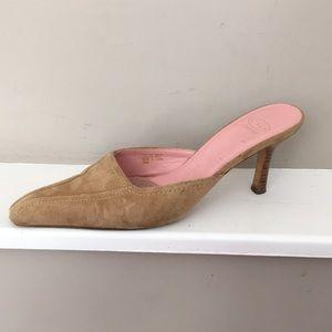 Suede mule shoes